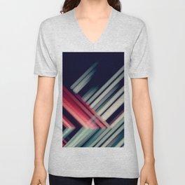 stripes lines diagonally multicolored Unisex V-Neck
