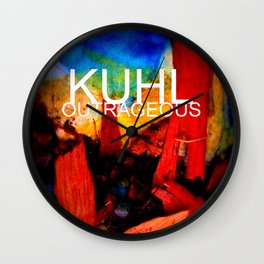 KUHL : OUTRAGEOUS Wall Clock