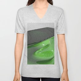 Waving green mathematical surface Unisex V-Neck