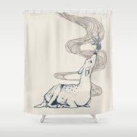 huebucket Shower Curtains featuring Pacifier by Huebucket