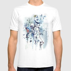 Heretic Astronut MEDIUM Mens Fitted Tee White