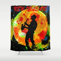 new orleans Shower Curtains featuring New Orleans  by Saundra Myles