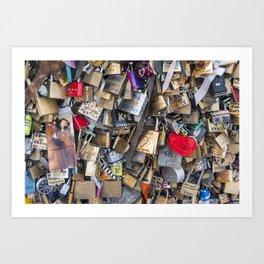 Couples love lock in Paris | Noriko Aizawa Buckles Art Print