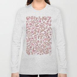 Millennial pink seashells Long Sleeve T-shirt