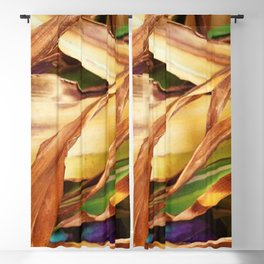 Leaves on the ground. brown, yellow, nature, decor, art, Society6. Blackout Curtain