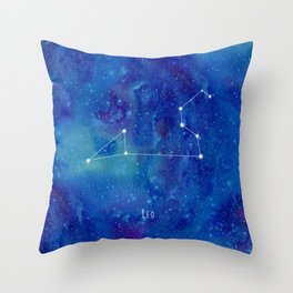Constellation Leo Throw Pillow