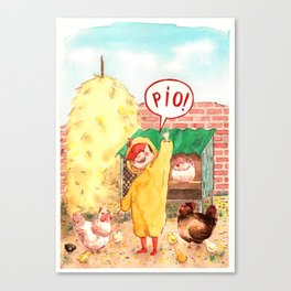 Little chick Canvas Print
