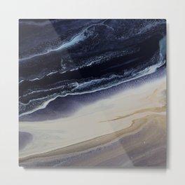 Marble in Blue and Ivories Metal Print