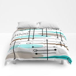 Mid-Century Modern Atomic Inspired Comforters