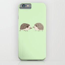 Two Hedgehogs iPhone Case