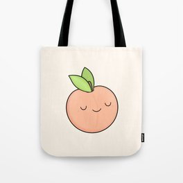 Happy Peach Tote Bag