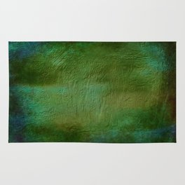Shades of Deep Green Texture Rug