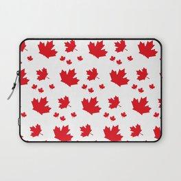 Canada Maple Leaf-Large-White Laptop Sleeve