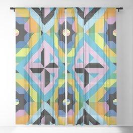 Unicorn tile pattern Sheer Curtain