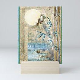 Bamboo Moon with One Mini Art Print
