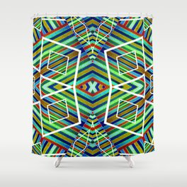 Colorful Geometric Tribal Abstract Pattern Style  Shower Curtain
