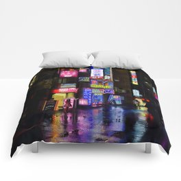 Japan - city - night 1 Comforters