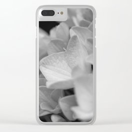 Boquet of black and white Clear iPhone Case