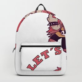 Let's rock cat Metal Music Gift Backpack