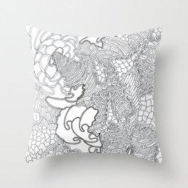 SPACE FRACTAL FANTASY SHRAPNEL!  Throw Pillow
