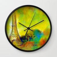 eiffel Wall Clocks featuring Eiffel by Alexandre Reis