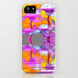 PURPLE-WHITE IRIS MOON REFLECTION iPhone Case