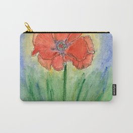 Red Poppy-2 (Papaver rhoeas) Carry-All Pouch