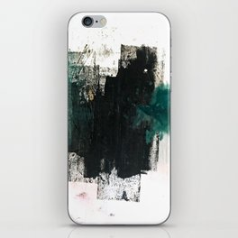Empire: a minimal, abstract piece in teal and midnight blue by Alyssa Hamilton Art iPhone Skin