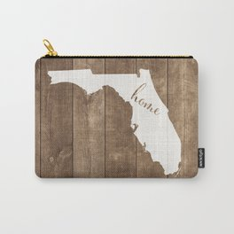 Florida is Home - White on Wood Carry-All Pouch
