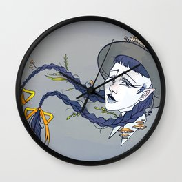 Autumnal witch Wall Clock