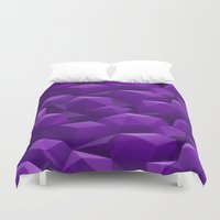 geode Duvet Covers featuring Geode by Screen Candy