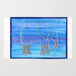 Elephant Decorated Rug