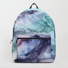 Growth- Abstract Botanical Fluid Art Painting Backpack