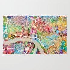 Philadelphia Pennsylvania Street Map Rug
