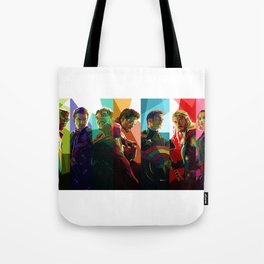 WPAP Avenger - Iron Man, Cap America, Thor, Black Widow, Hulk, Nick, Clint Tote Bag