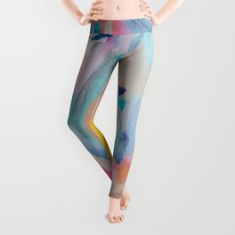 Colorful Abstract Painting  Leggings