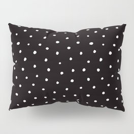 Minimal- Small white polka dots on black - Mix & Match with Simplicty of life Pillow Sham