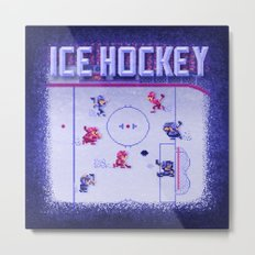 Hockey Ice Metal Print
