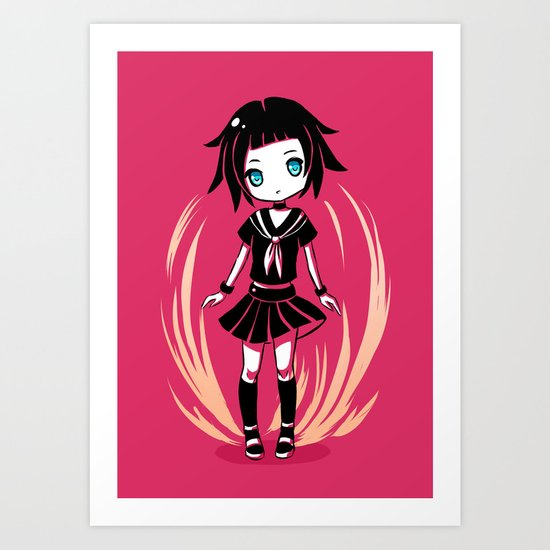 School Girl Art Print