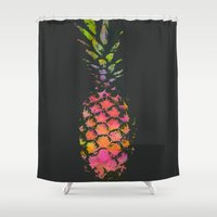 pineapple Shower Curtains featuring Pineapple by Georgiana Paraschiv