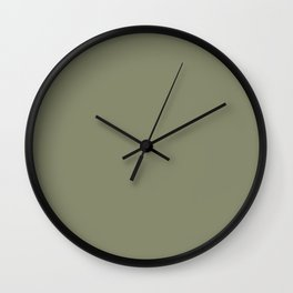 Plain Sage Green to Coordinate with Simply Design Color Palette Wall Clock