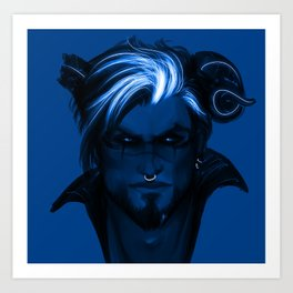 Blue punk Art Print