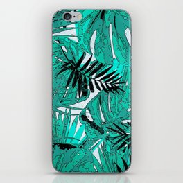 Tropical leaves background texture iPhone Skin