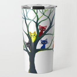 Eau Claire Whimsical Cats in Tree Travel Mug