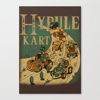mario kart Canvas Prints featuring Hyrule Kart by Adrian Filmore