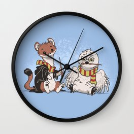 The Owl and The Weasel Wall Clock