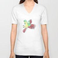 allison argent V-neck T-shirts featuring Allison by Killmonkies