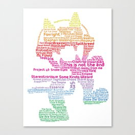 MonsterCat Typography Canvas Print