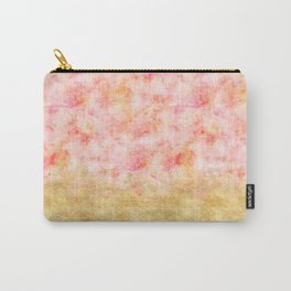 Pretty Pink Gold Glam Watercolor Carry-All Pouch