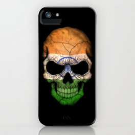 Dark Skull with Flag of India iPhone Case